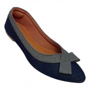 Sapatilha Confort  Tecido Jeans