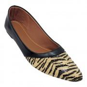Sapatilha Tradicional Napa Preto Tecido Zebra