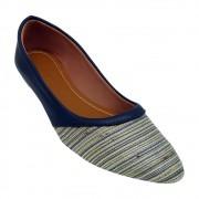 Sapatilha Tradicional Napa/Tecido Azul Marinho