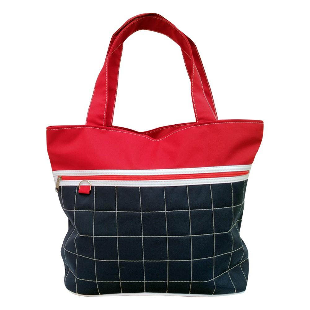 Bolsa Sacola Tecido  Vermelho/Azul