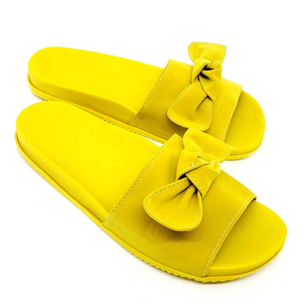 Chinelo Slide Birken -Laço Amarelo