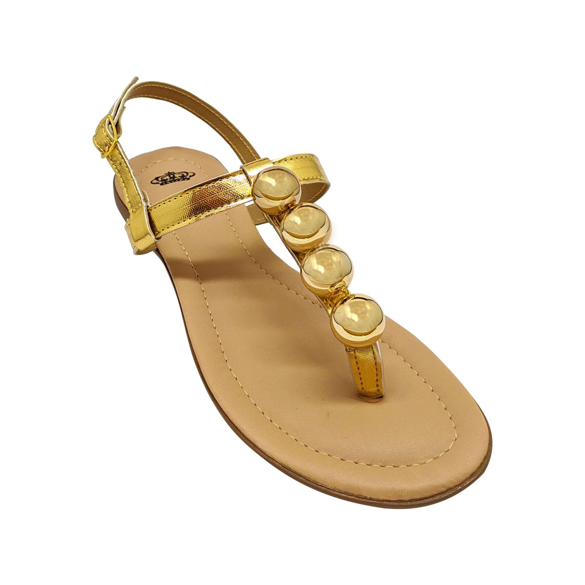 Sandália Heloká Super Luxo Dourado