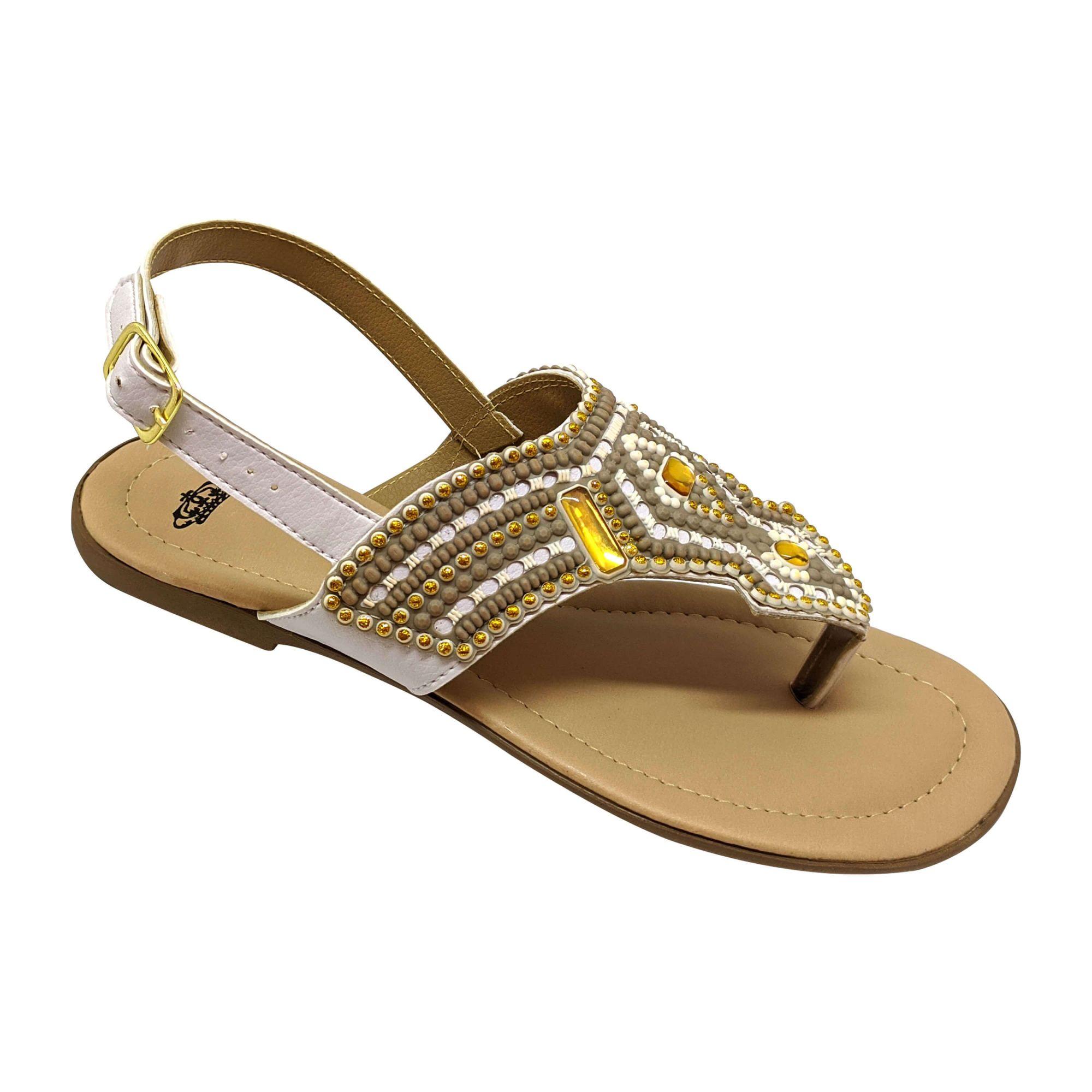 Sandália Super Luxo Emborrachado Branco