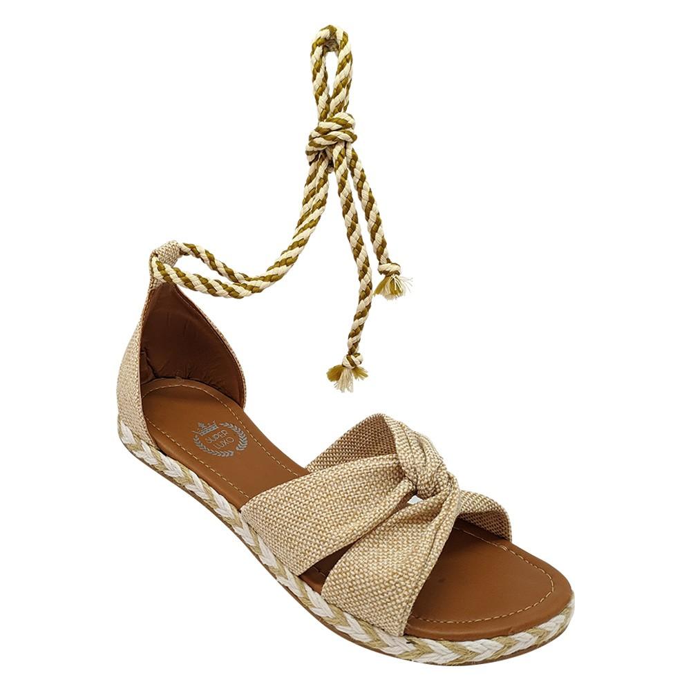 Sandália Super Luxo Juta Bege