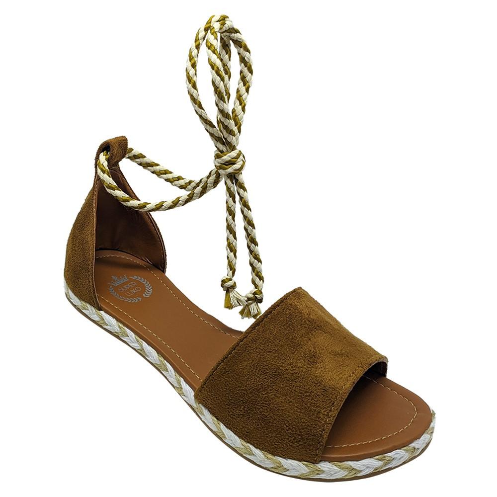 Sandália Super Luxo Nobuck Caramelo