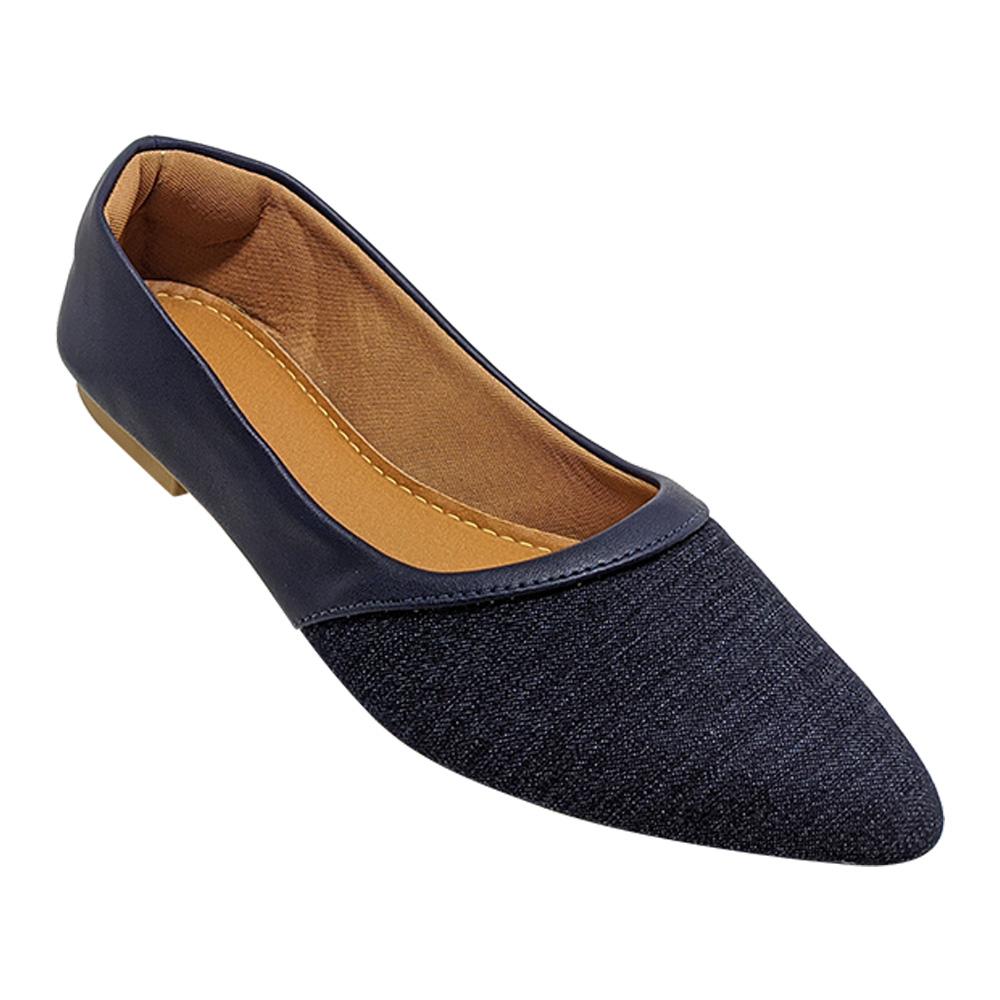 Sapatilha Confort Feminina Napa Azul Marinho/Jeans