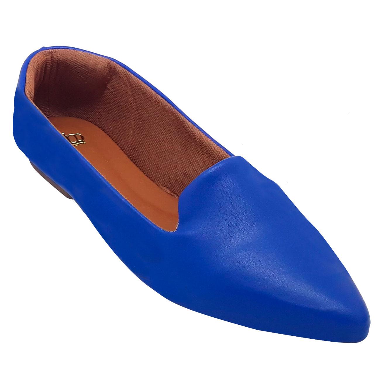 Sapatilha Confort Heloká Bico Fino Azul