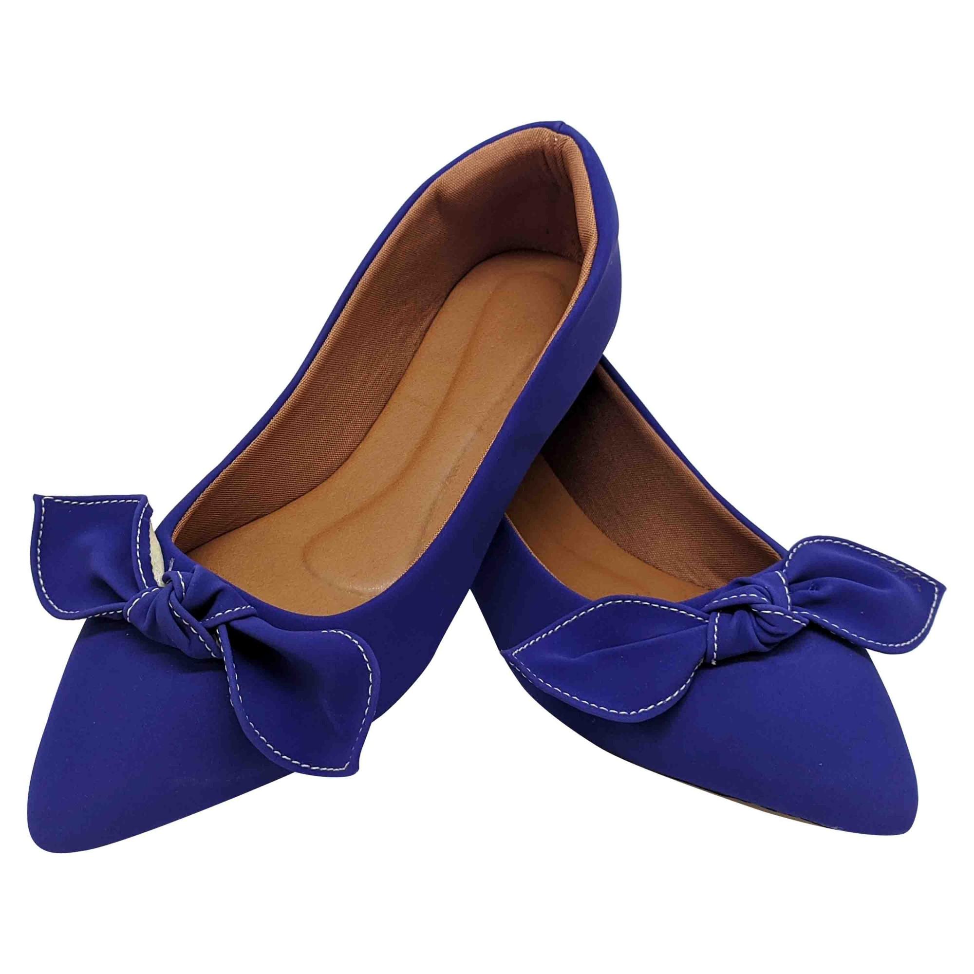 Sapatilha Confort Heloká Bico Fino Nobuck Azul