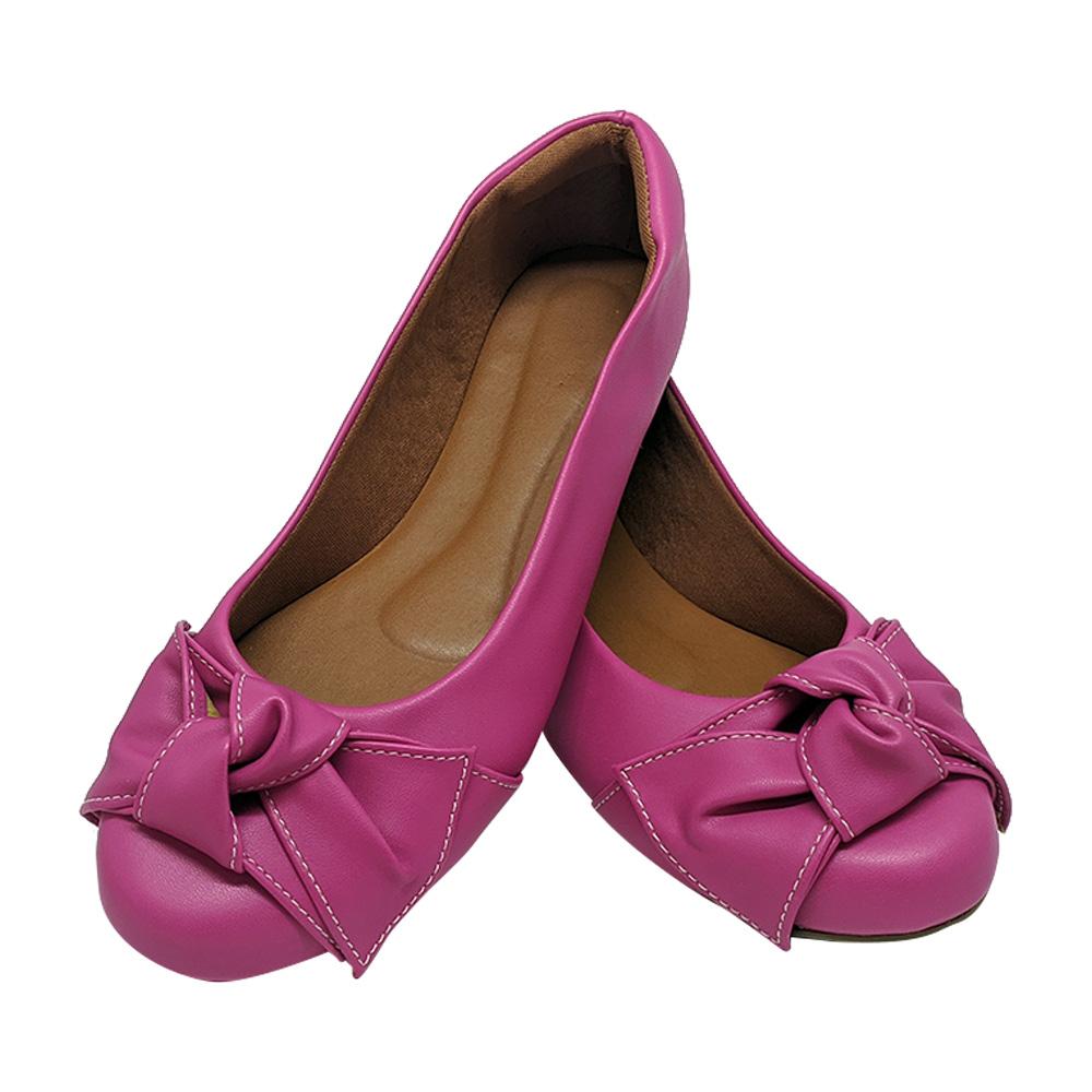 Sapatilha Confort Heloká Napa Pink Laço