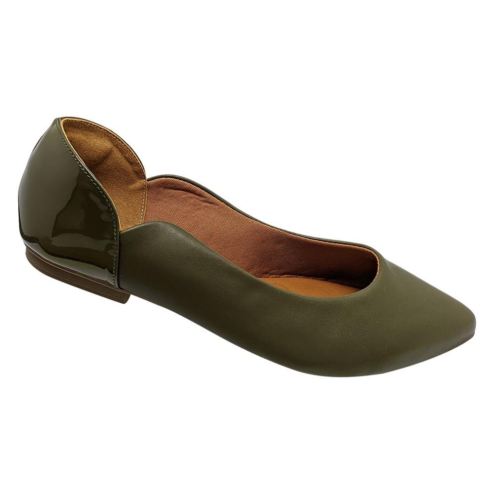 Sapatilha Confort  Napa Verde Musgo