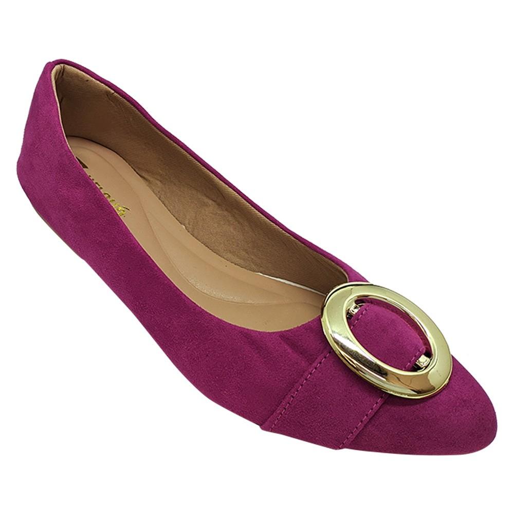 Sapatilha Confort Nobuck Pink/Fivela