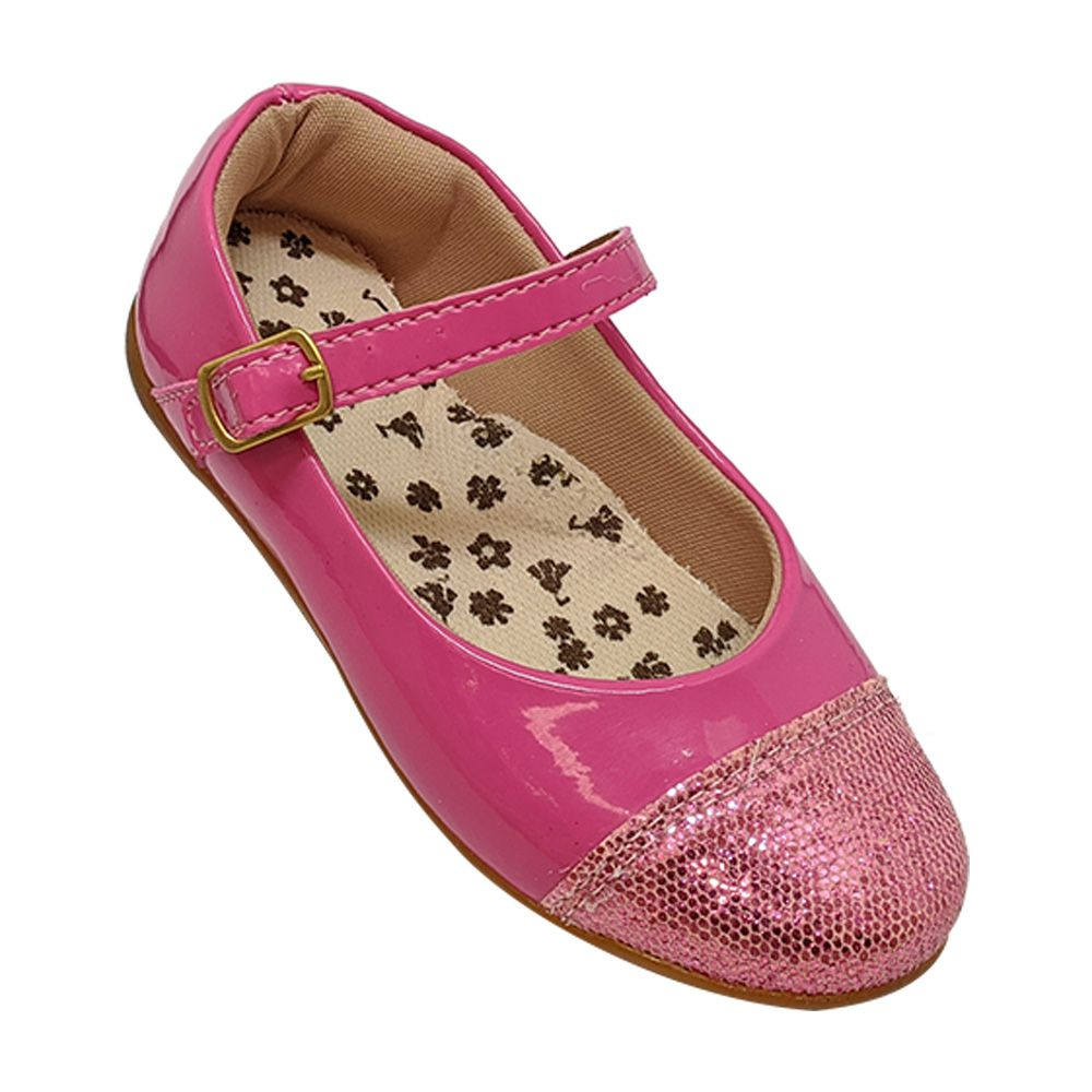 Sapatilha Infantil Rosa Verniz com Glitter