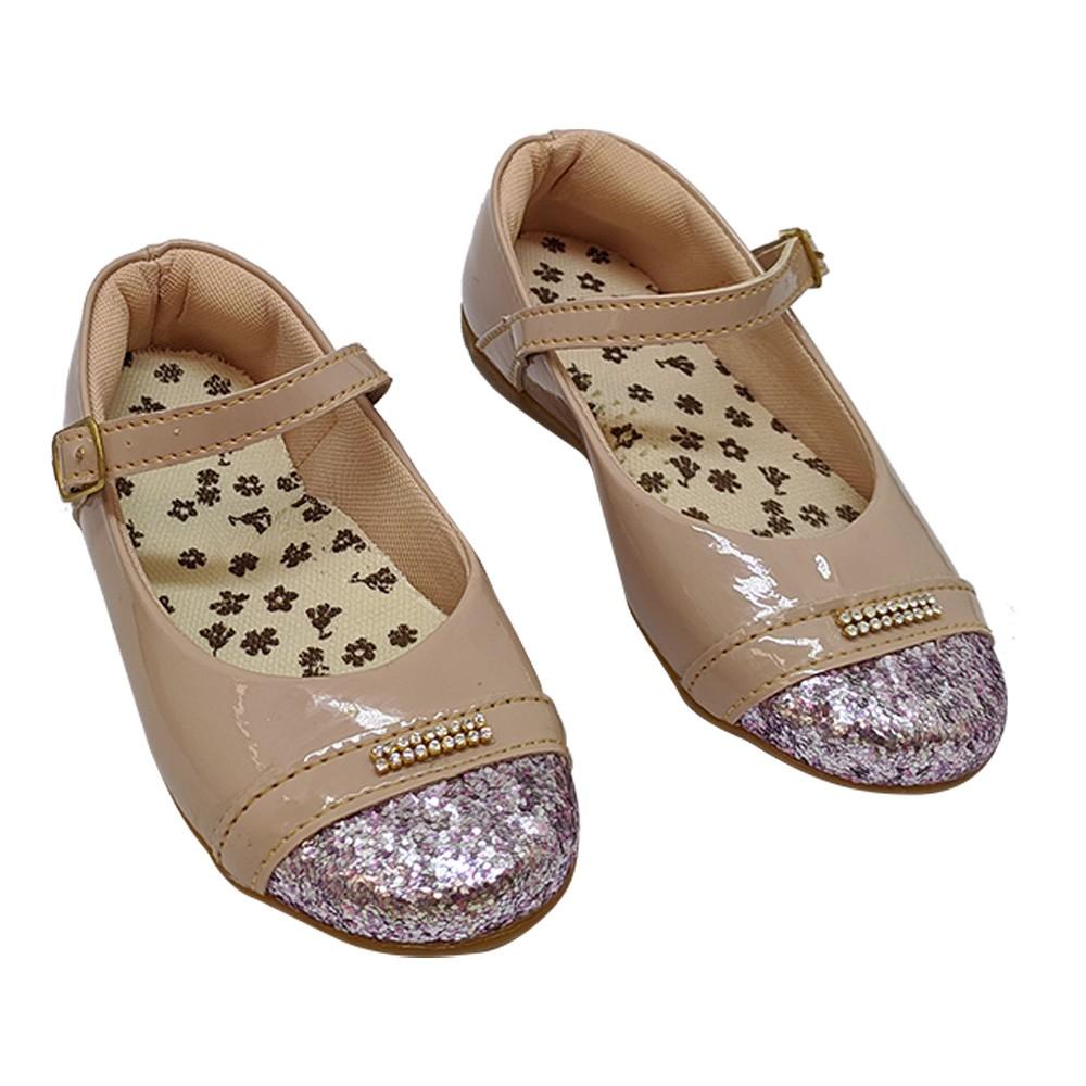 Sapatilha Infantil Rose Verniz com glitter