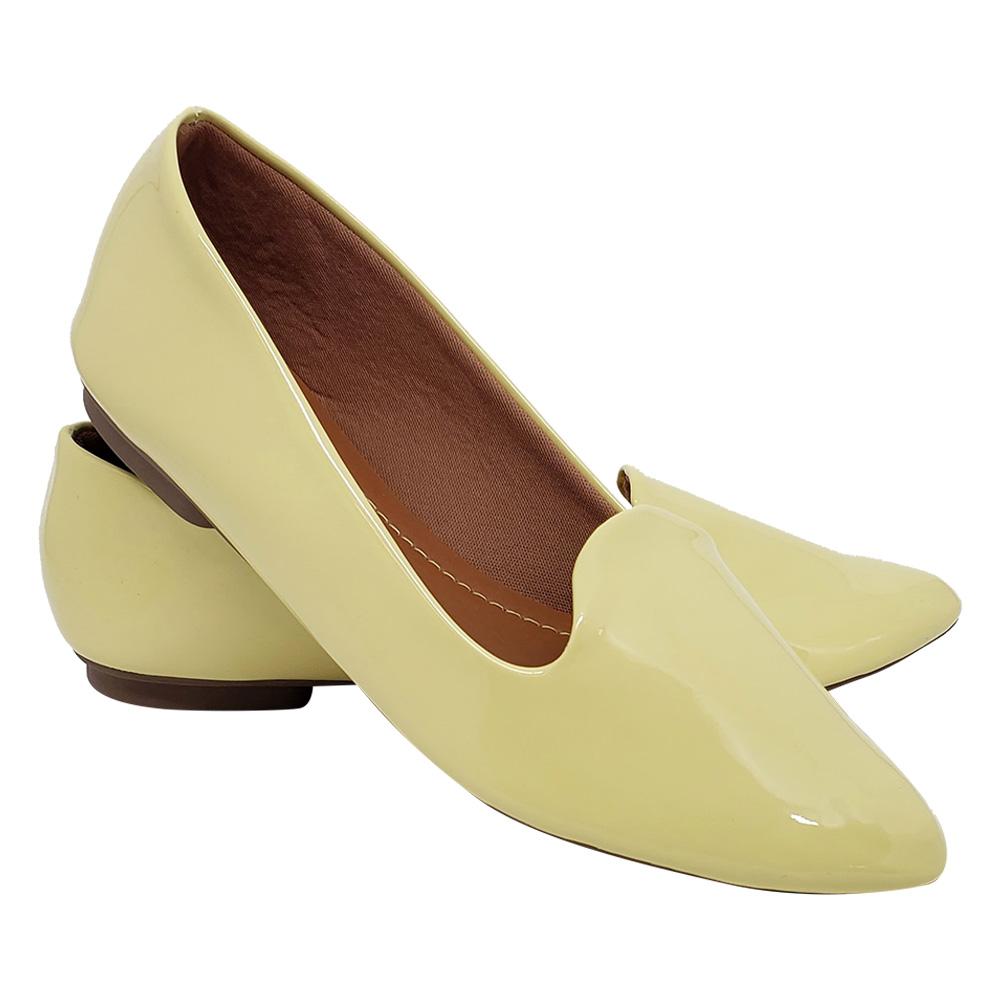 Sapatilha Tradicional Verniz- Amarelo Claro