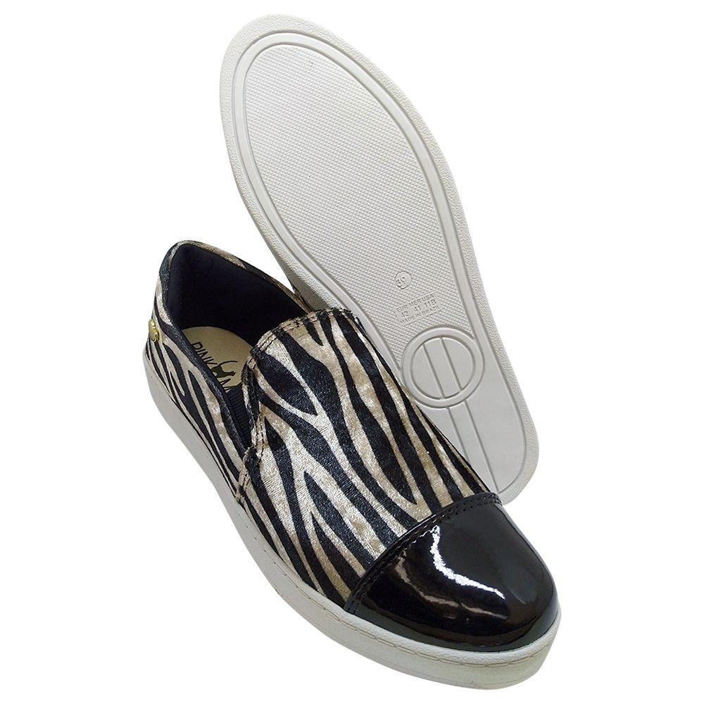 Slipper Confort Heloká Camurça Zebra