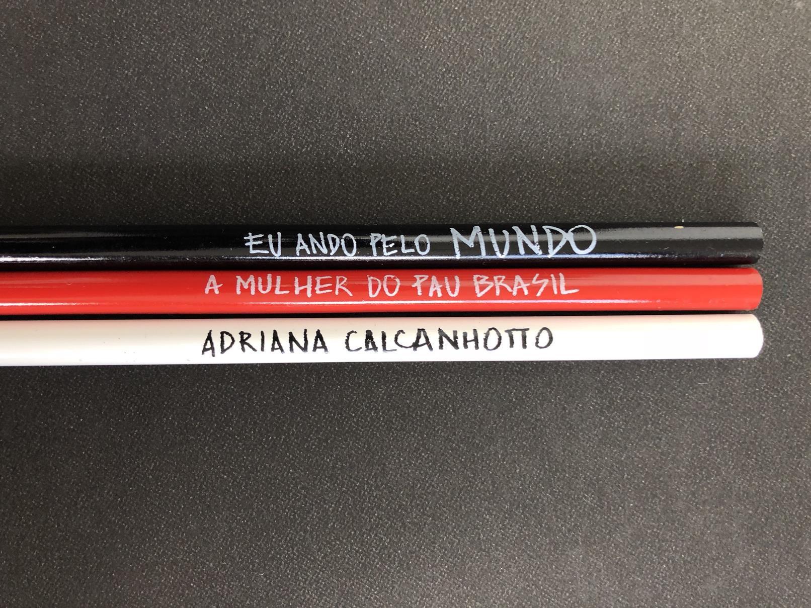 LÁPIS ADRIANA CALCANHOTTO + A MULHER DO PAU BRASIL + EU ANDO PELO MUNDO