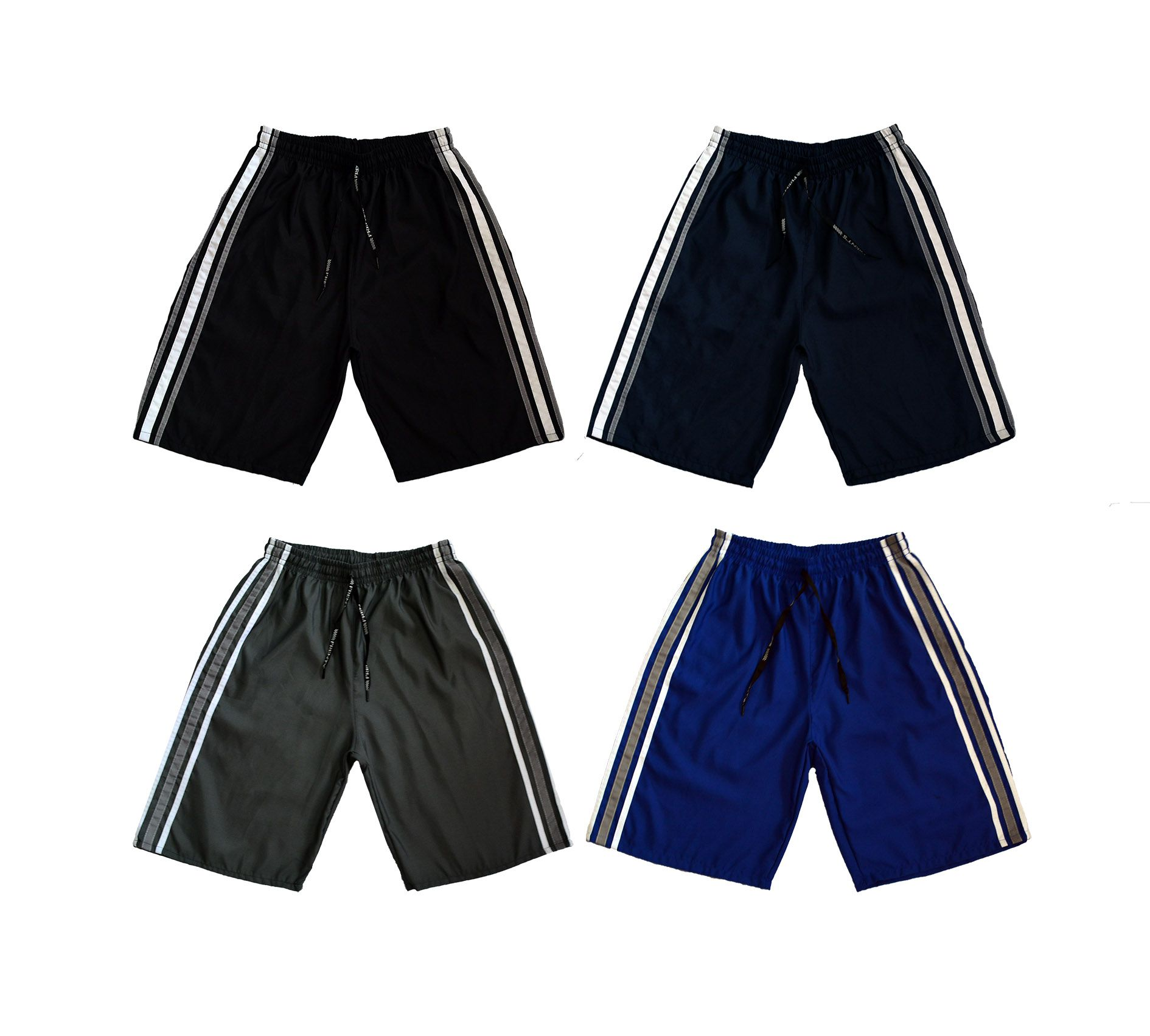2296c30305 KIT 4 Bermudas Masculina Esporte Futebol Academia C  Bolso Traseiro Ref.195  - Frent´s