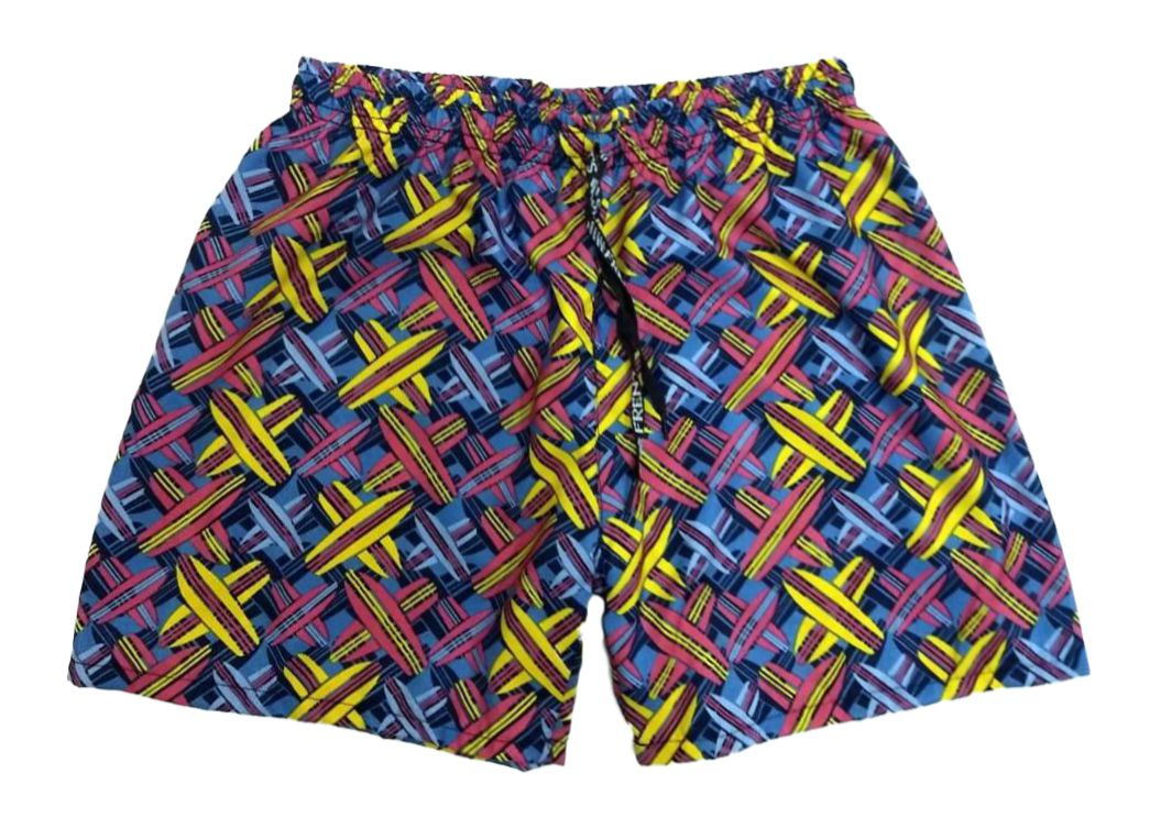 ca37057fd Shorts Masculino Adulto Tactel Praia Estampado Ref.370 - Frent´s