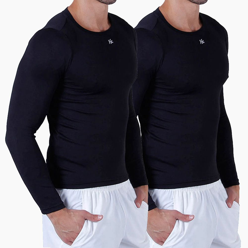 Kit 2 Camisa Térmica Kanxa Alta Compressão UV 50 Manga Longa - 01Esporte d09373fc3a99b