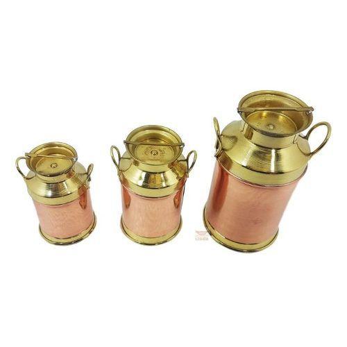 Super conjunto de leiteiras em cobre Grande
