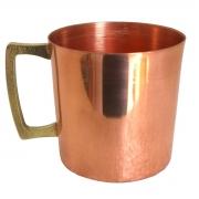 Caneca De Cobre Original Moscow Mule Alça de Bronze 350 ml