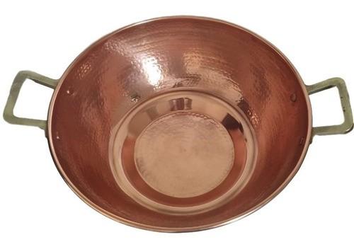 Champanheira Em Cobre C/ Alça De Bronze Martelada - 10 L