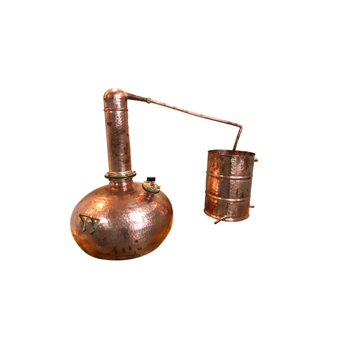 Alambique em cobre Completo com Termômetro 6 Litros