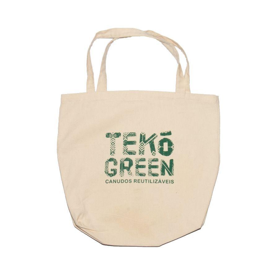Bolsa Ecológica Tekó Bag - 100% Algodão Cru