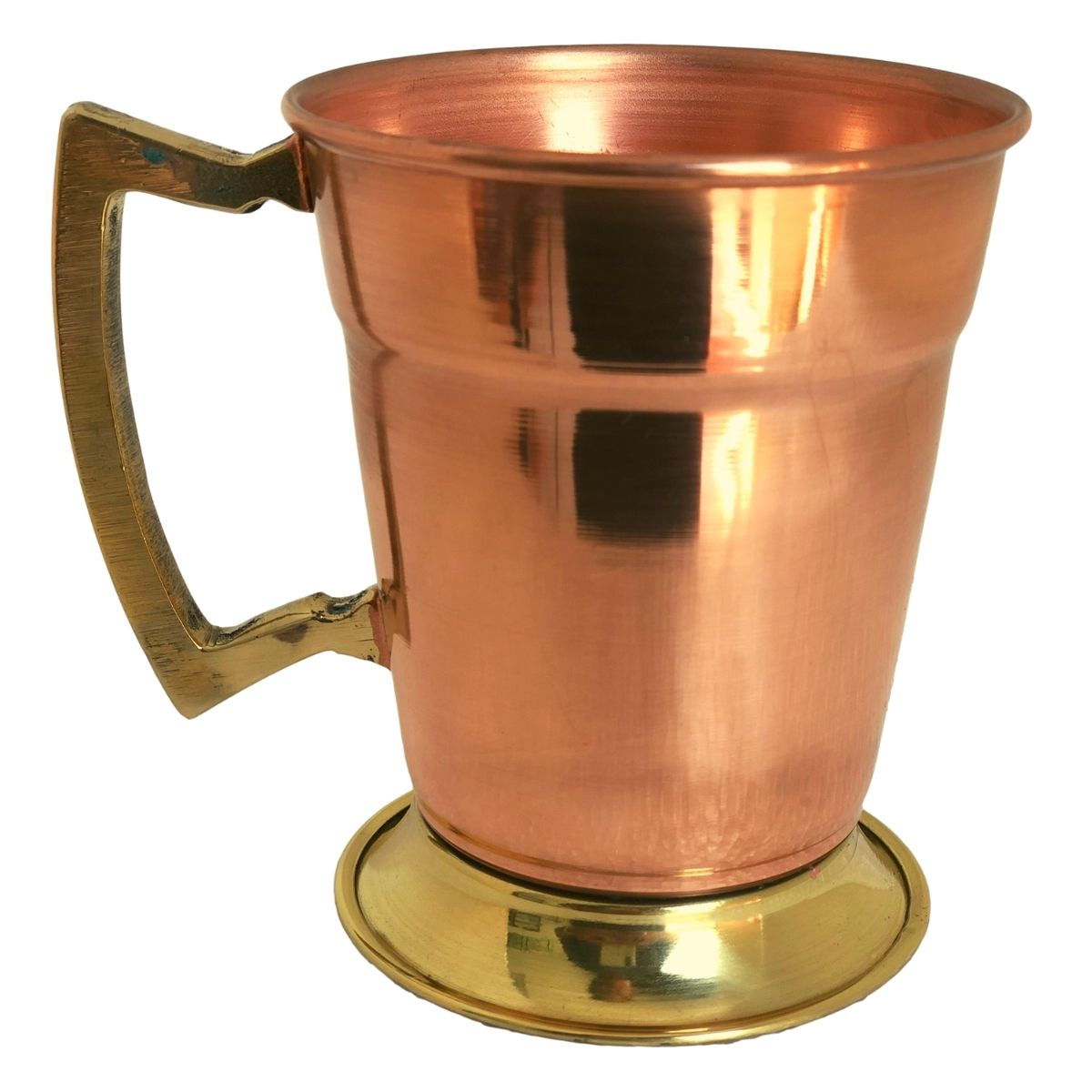 Caneca de Cobre Lisa Drink Beer (Alça Bronze) 350 ml
