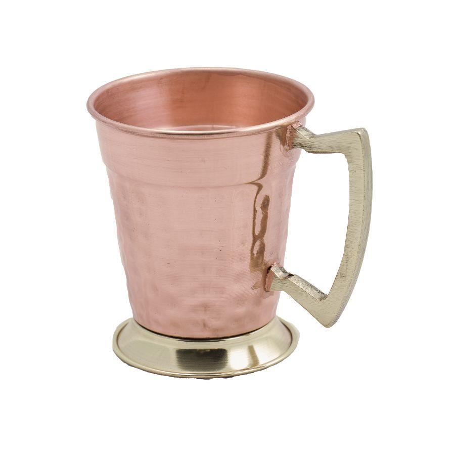 Caneca de Cobre Martelada Drink Beer (Alça Bronze)
