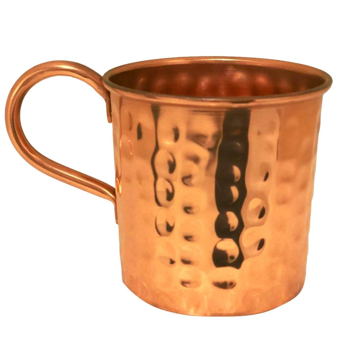 Caneca Martelada De Cobre Original Moscow Mule - Com Borda 350 ml