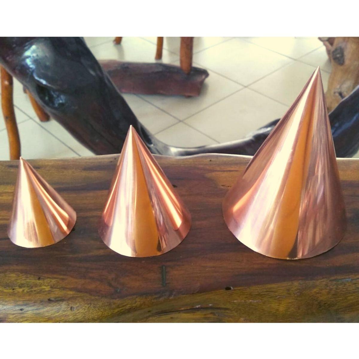 Cone de Cobre 14 cm para Radiestesia e Radiônica