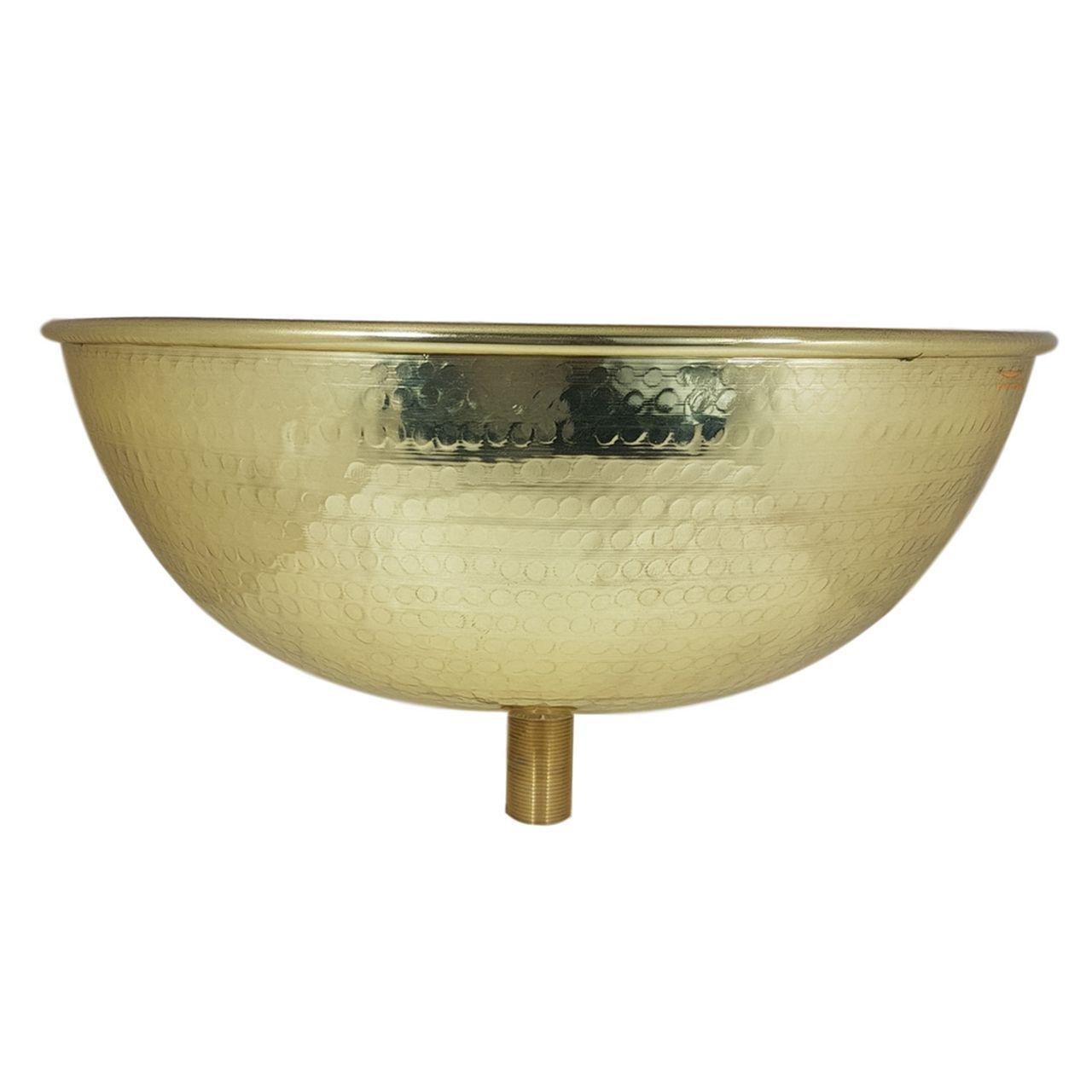 Cuba Dourada Martelada -  38 cm de diâmetro com Válvula