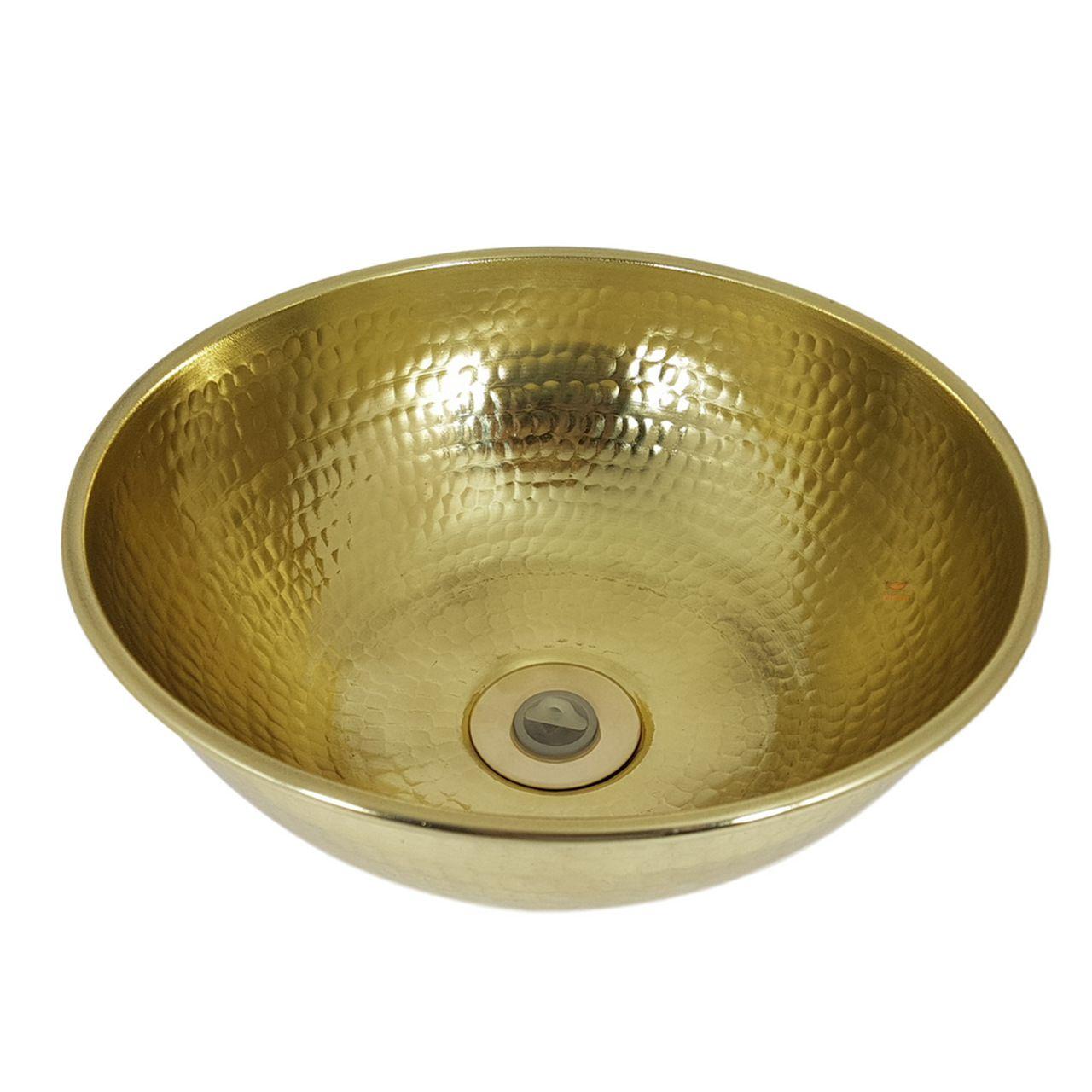 Cuba Dourada Martelada - 25 cm de Diâmetro com Válvula