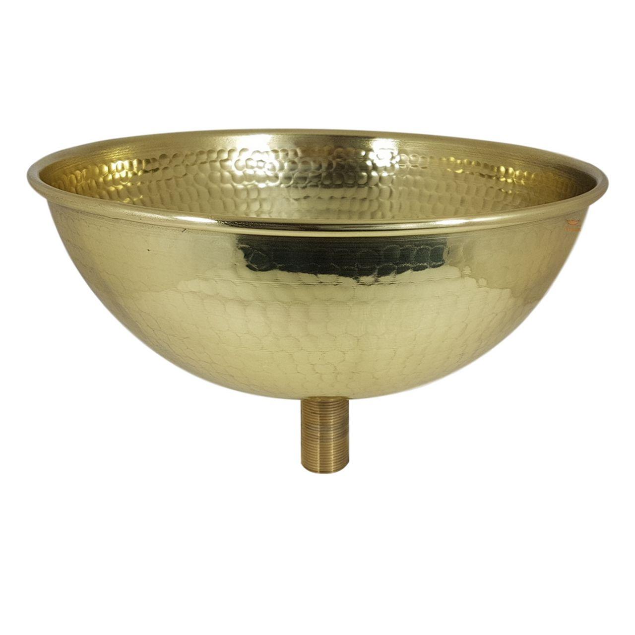Cuba Dourada Martelada - 30 cm de Diâmetro com Válvula