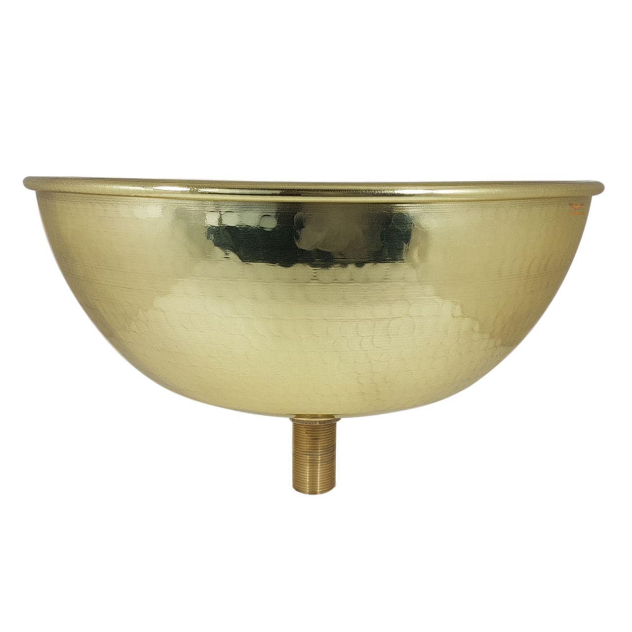 Cuba Dourada Martelada - 34 cm de Diâmetro com Válvula