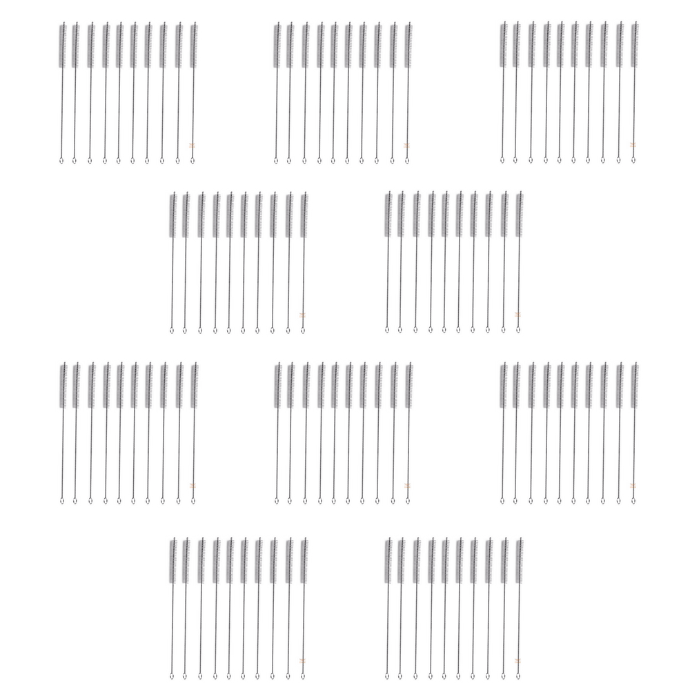 Kit 100 Escova para Limpeza de Canudos em Inox