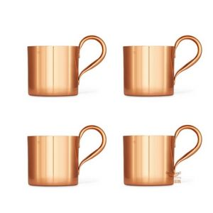 Kit 4 Canecas De Cobre Moscow Mule 350 ml