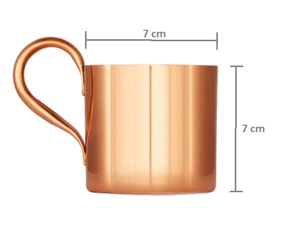 Kit 6 Canecas em cobre Moscow Mule 350 ml