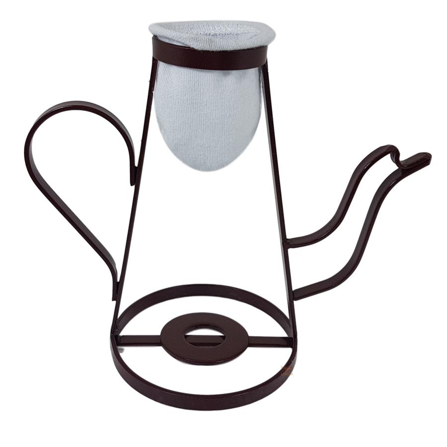 Mini Coador de Café Bule com Refil de Pano