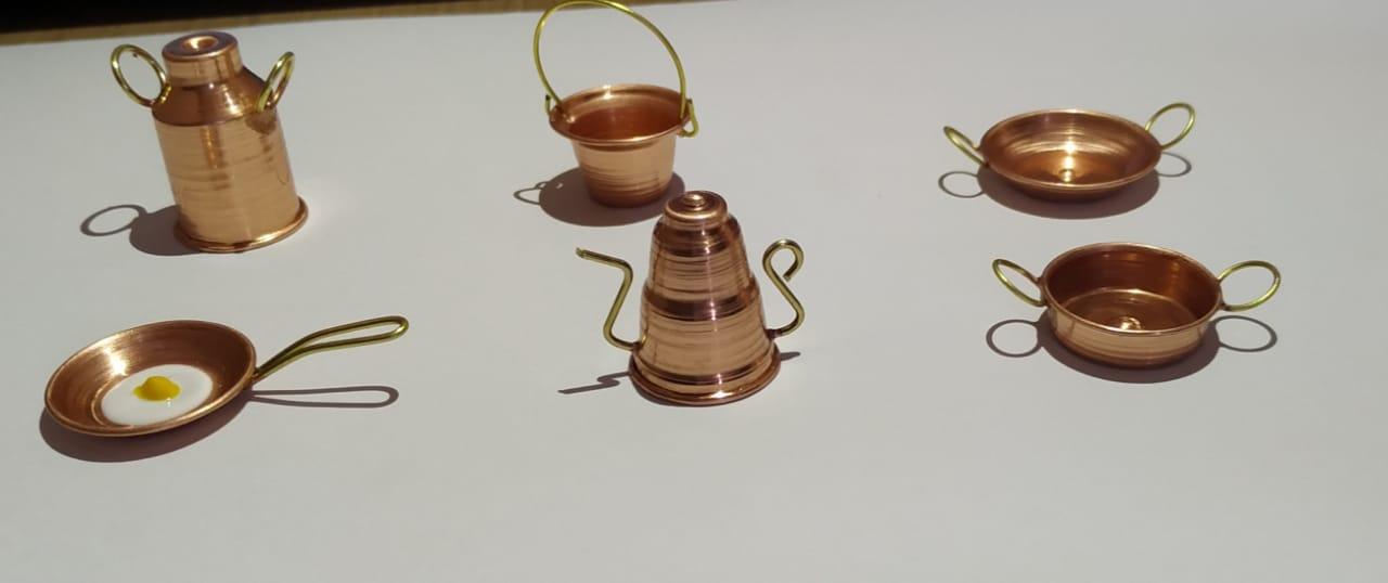 Kit c/ 6 Miniaturas em Cobre