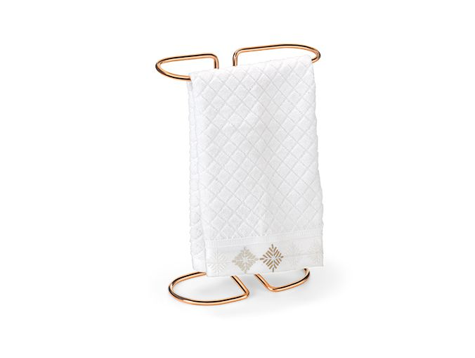 Porta toalha de bancada lavabo premium rose gold