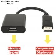 Adaptador Displayport Para Hdmi Cabo Conversor De Video