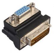 Adaptador Dvi-i 24+5 x VGA 90 Graus Tipo L Monitor Projetor Tv 03123