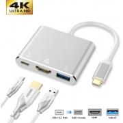 Adaptador TIPO-C HDMI X USB 3.0 X TIPO-C XT-2155