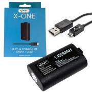 Bateria E Cabo Carregador Controle Xbox One - Knup Kp-5128