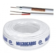 CABO COAXIAL 06 67% 7mm 75 OHMS BRANCO C/100m MACROCABOS