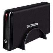 Case Com Fonte Hd E Ssd 3,5 Sata Usb 3.0 Led Pc Notebook EXBOM CGHD-G34