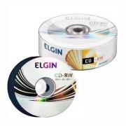 CD-RW Regravável 700 Mb 80 Min 12x Elgin - 25 Un