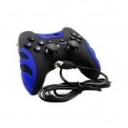 Controle Videogame Com Fio 2 Em 1 Ps3 Ou Pc Dualshock Joypad KP-4040 Knup Azul